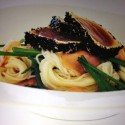 Seared Tuna with Ginger Noodles