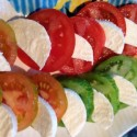 Colorful Tomato and Cheese Salad