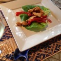 Asian Chicken and Peanut Lettuce Wraps