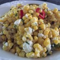 Grilled and Raw Mexican Corn Salad