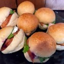 Turkey Sliders with Brie and Cranberry Spread