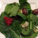 Spinach Salad with Warm Garlic Dressing