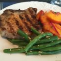 Grilled Pork Chops with Spicy Peach Salsa