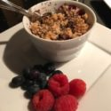 Apple, Berry, & Chocolate Crumble – Dessert in NO Time!